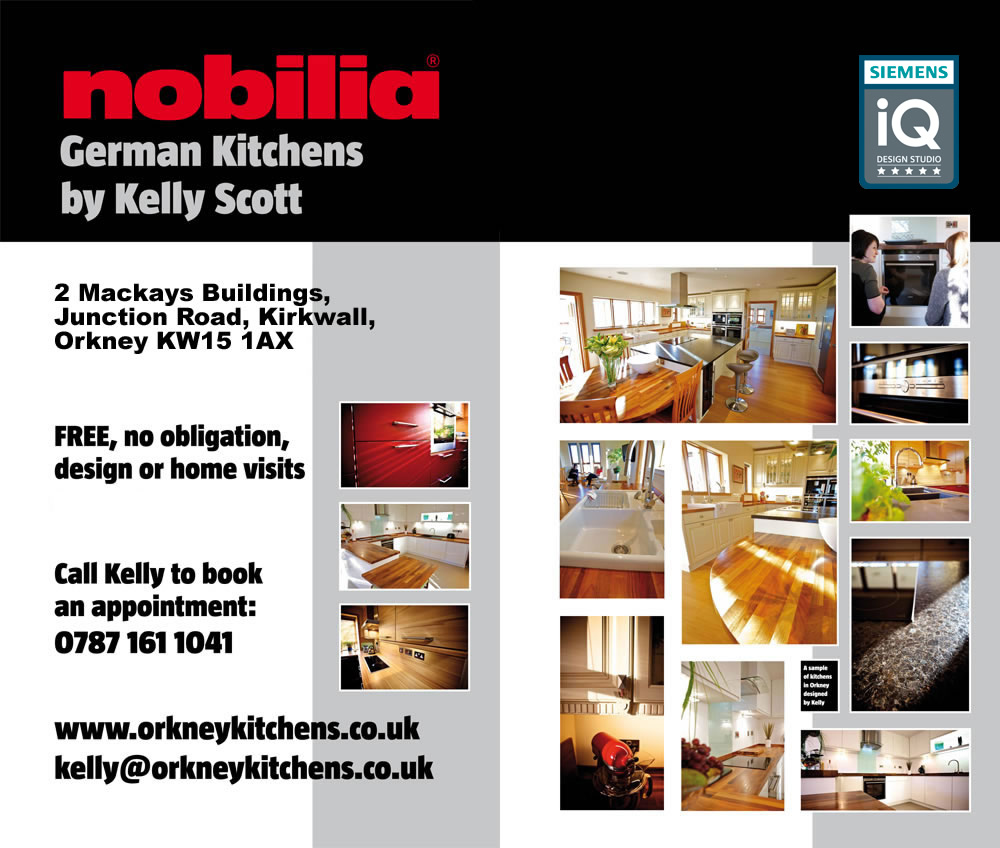 German Kitchens by Kelly Scott - Kitchen Studio in Kirkwall, Orkney - FREE, no obligation, design or home visits AVAILABLE NOW - Call Kelly to book an appointment: 0787 161 1041 / kelly@orkneykitchens.co.uk